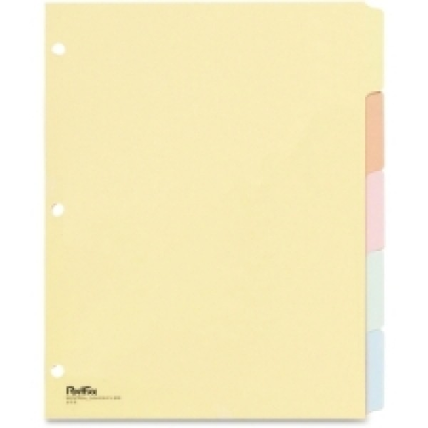Oxford - 213-B - Assorted Colour Write-On Subject Tab Dividers - 5/pack