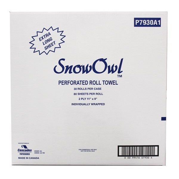 Snow Owl - 7930 - 2Ply 80 Household Kitchen Towels 30/Case