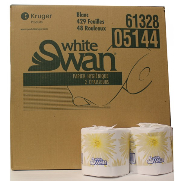 White Swan - 5144 - Household Bathroom Tissue 2Ply 429 Sheet 48/Case