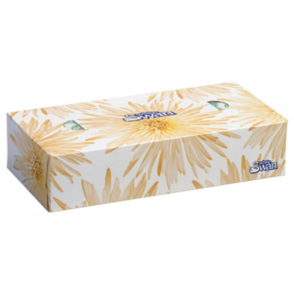White Swan - 8300 - Facial Tissue 2Ply 100/Box 36/Case