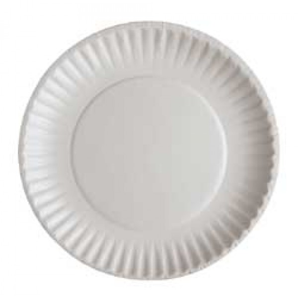 "Eliat - 726 - 6"" Paper Plate Uncoated White 1000/Case"