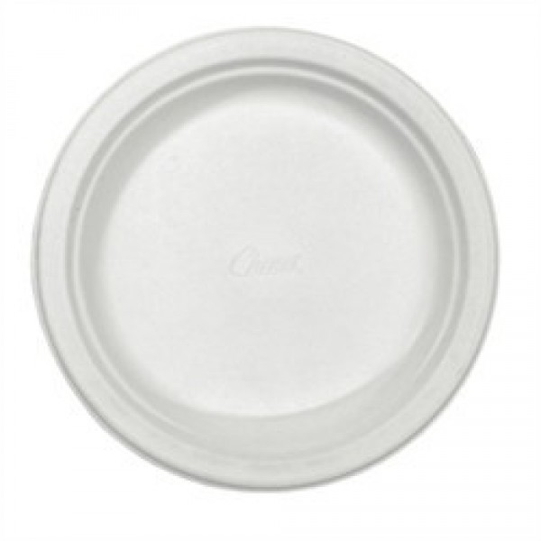 "Royal Chinet - 22009 - 8 7/8"" Microwaveable Safe Lunch Paper Plate White Heavy Duty 500/Case"