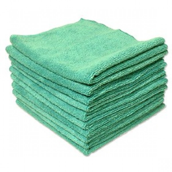 Amber - 14 x 14 Green - Micro Fibre Cloth 10/Pack