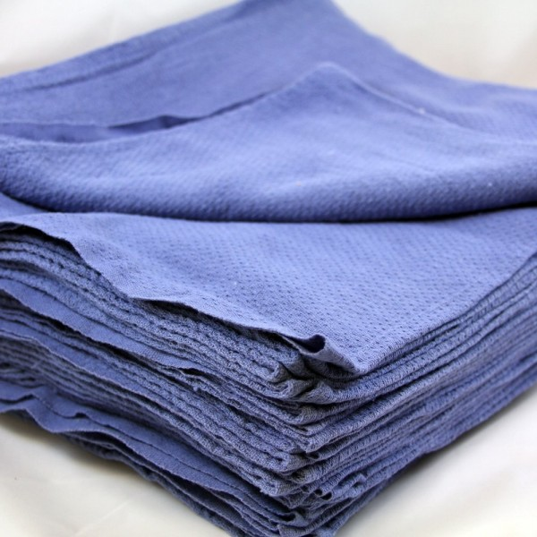 "Amber - 16""x19"" - Huck Blue Towels 12/Pack"