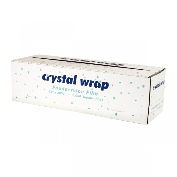 "Crystal - 71197 - 18""X2000' Food Wrap With Cutting Edge Dispenser 1 ROLL/Pack"