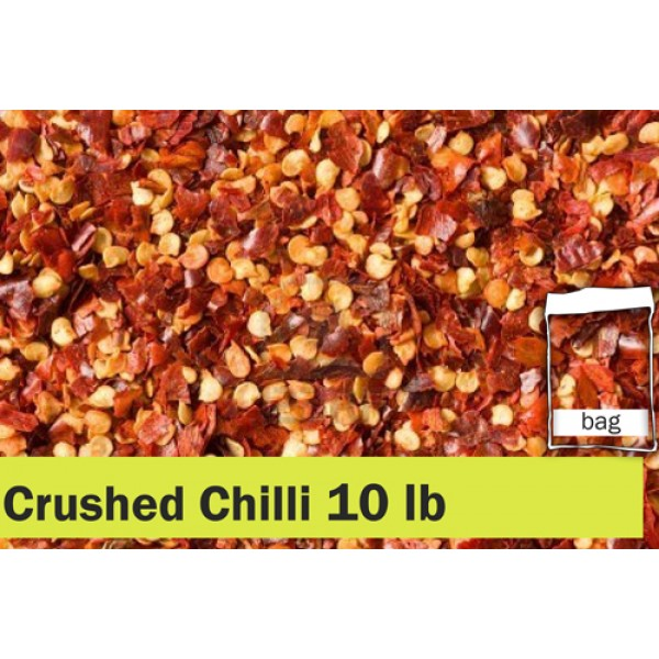 Red Crushed Chilli 10lbs Clear Bag