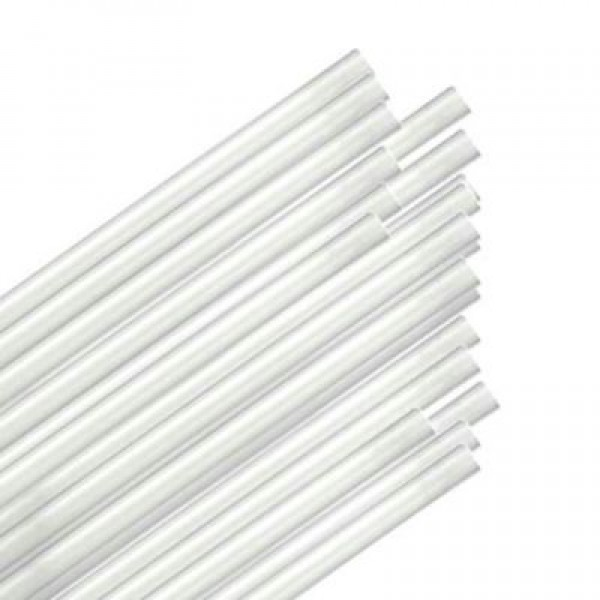 "Touch - 92-0349 - 6"" White Straw Regular 9X500/Case"