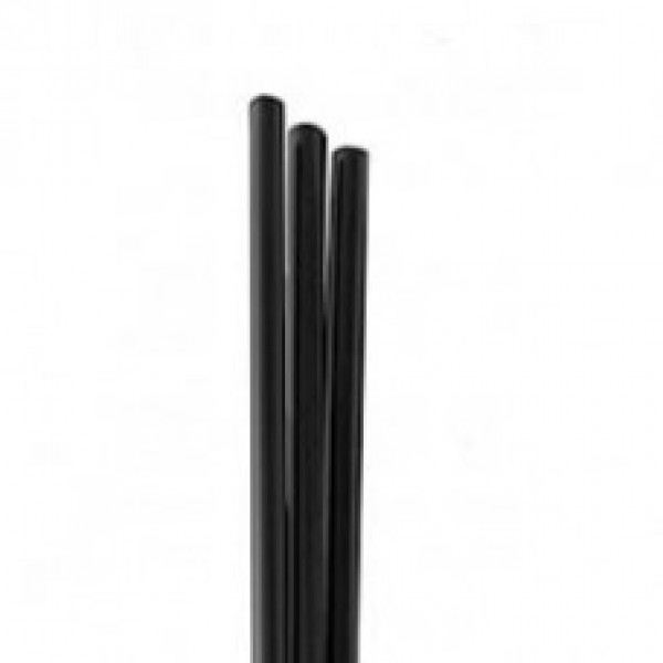 "Touch - 92-875 - 8"" Black Jumbo Cocktail  Straw 9X250/Case"