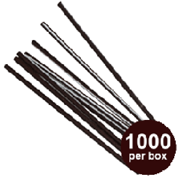 "Touch - 92-131 - 6"" Black Plastic Stir Sticks 10X1000/Case"