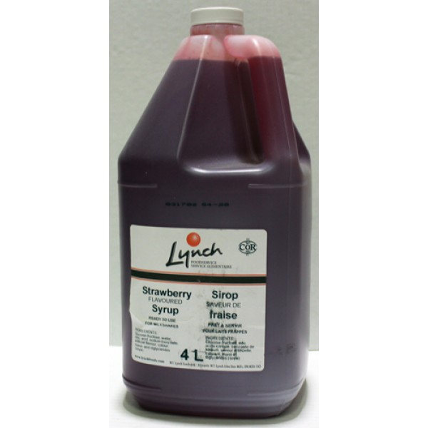 Lynch Foods - Strawberry Syrup 4L