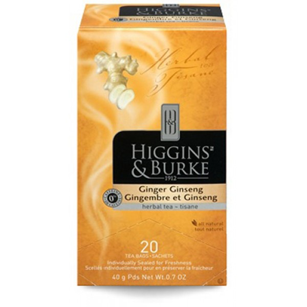 Higgins & Burke Herbal Tea Ginger Ginseng 20's x 6