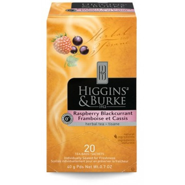 Higgins & Burke Herbal Tea Raspberry Blackcurrant 20's x 6