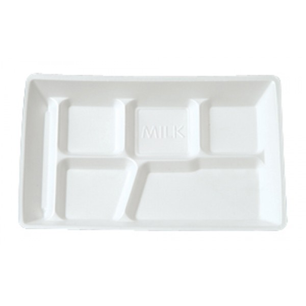 Darnel - DU2014601 - 6 Compartment Lunch Tray White 500/Case