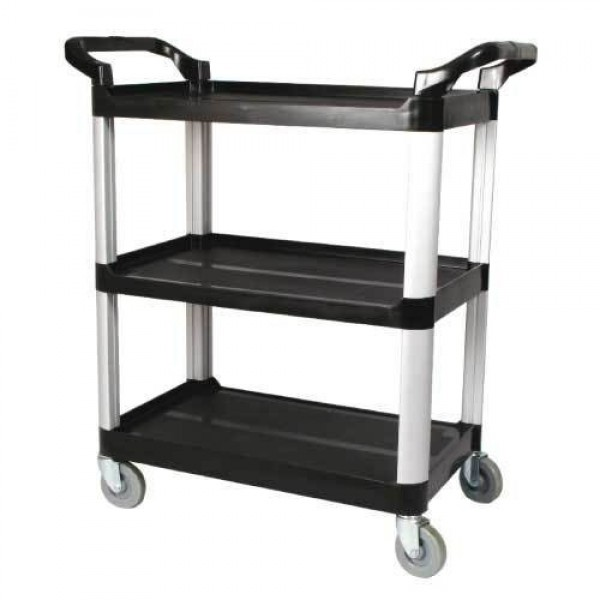 "Winco - UC-40K - 3-Tier Cart (Knocked Down) , Black, 40"" X 19 3/4"" X 37 1/2"" 1/Case"