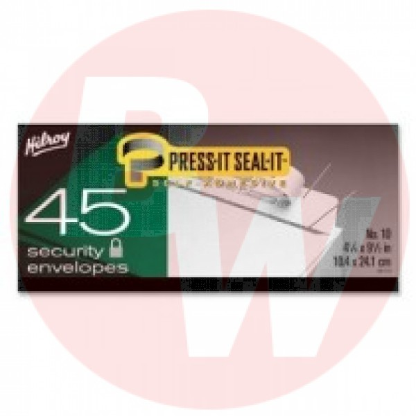 "Hilroy Press-It Seal-It Self Adhesive Envelope - Business - #10 (4.13"" x 9.50"") - 20 lb - 45/box"