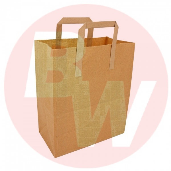 Krown - 12X17X7 - Grocery Paper Bag With Handle 300/Case