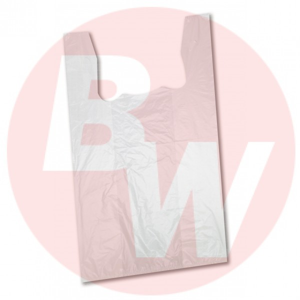 Amber - SJUMBO - Jumbo T Shirt Shopping Bags High Density White 500/Case