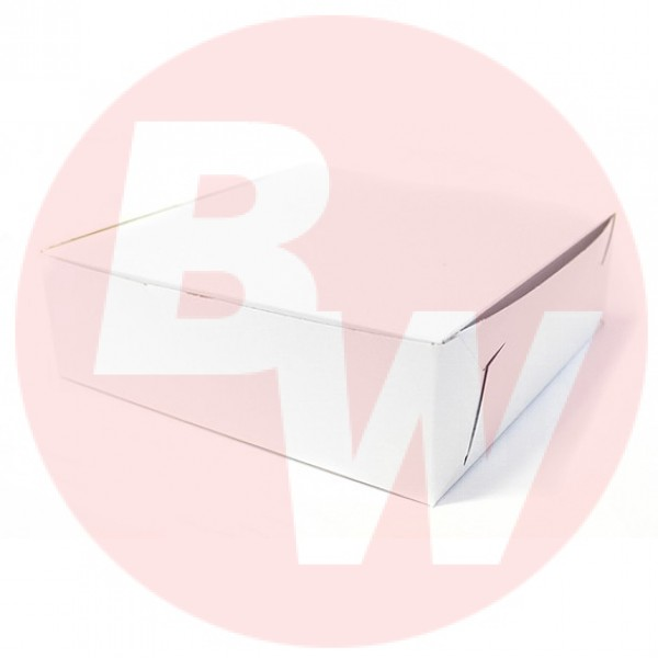Eb Box - 8X5.5X3.5 - White Cake Box 250/Pack