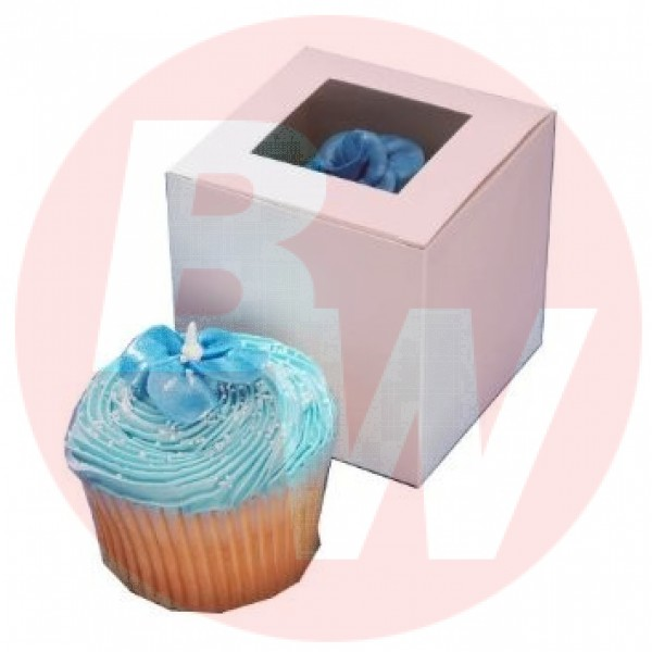 "Eb Box - 4""x4""x4"" - Cup Cake Box White 100/Pack"