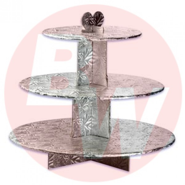 Enjay - CS-3T-SILVER - Cup Cake Stand 3 Tier Silver EACH/Pack