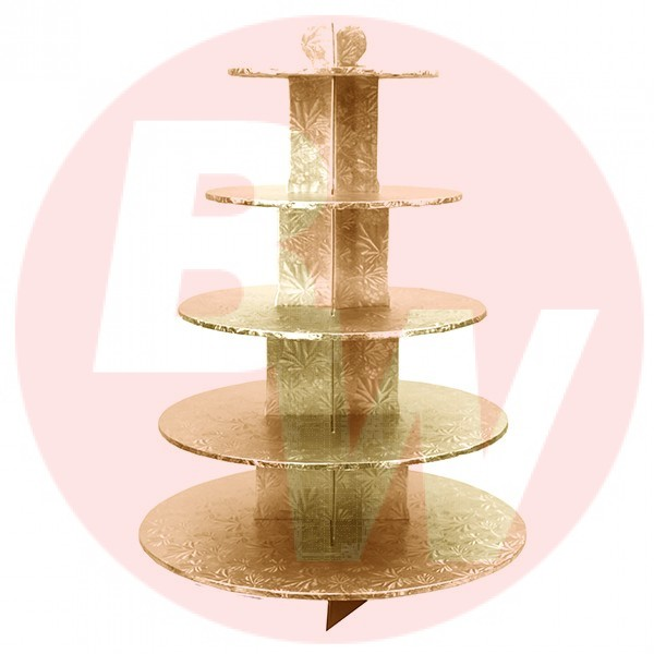 Enjay - CS-5T-GOLD - Cup Cake Stand 5 Tier Gold EACH/Pack