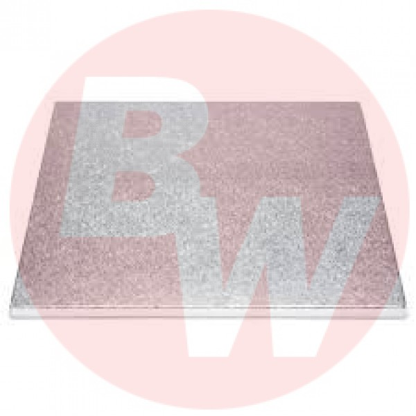 "Enjay - #1/4-1217S - 12""X17""X1/4"" Cake Board Sheets 1/2"" Thick Slab Sheets - Silver 12/Pack"