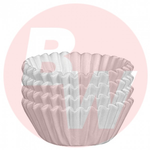 "Enjay - 1.25""X7/8""X3"" - Mini Baking Cups White 500/Pack"