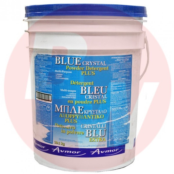 Avmor - 2317 - Blue Crystal Plus Laundry Detergent Powder 18.1KG/Each