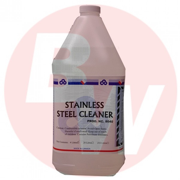Crown - 8040.30 - Stainless Steel Cleaner & Polish 4L/Each