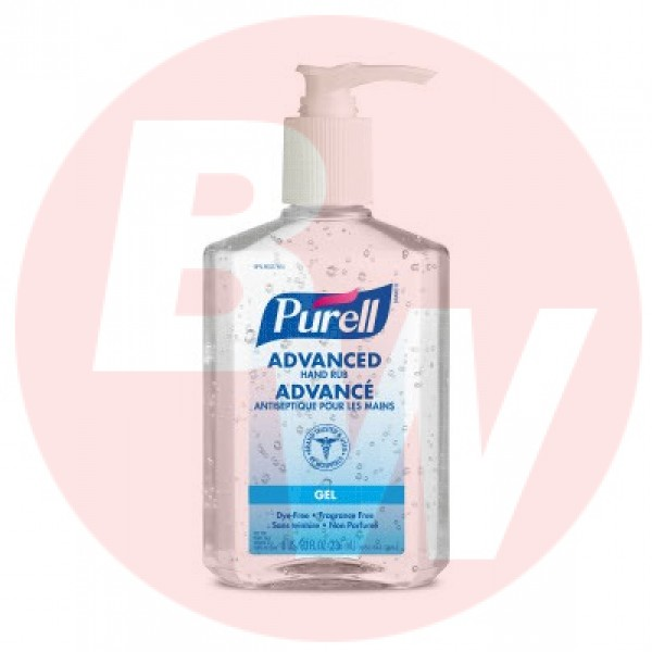 Purell - 9652-12-CAN00 - 236ml Gel Hand Sanitizer with Pump - 12 Bottles/Case