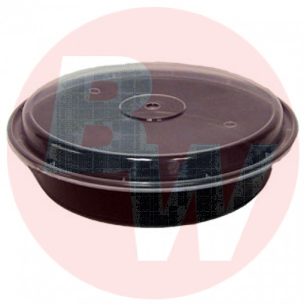 "Versatainer - NC-948-B - 9"" Round Container Black 150/Case"