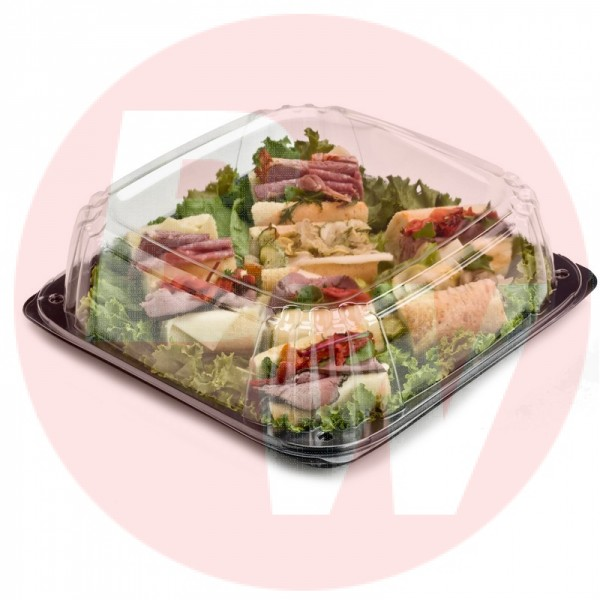 "Sabert - 9611 - Ultrastack 10.7"" Square Catering Tray Combo 25 SETS/Case"