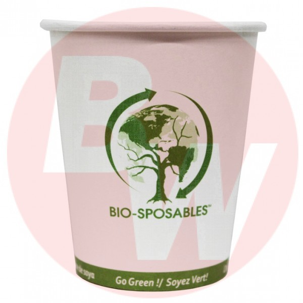 Bio-Sposables - BSP8 - 8 Oz Hot Paper Cup -Pla Lined 1000/Case