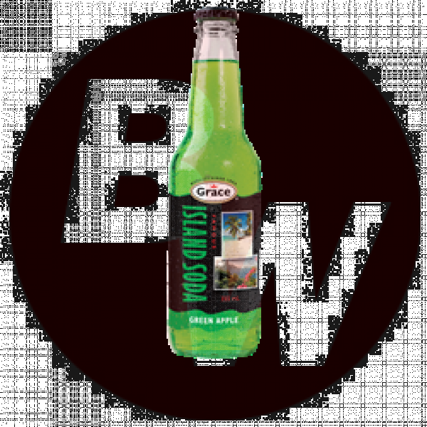 Island Soda - Green Apple 12 x 355ml