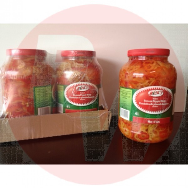 Bick's - Hot Pepper Rings 4L