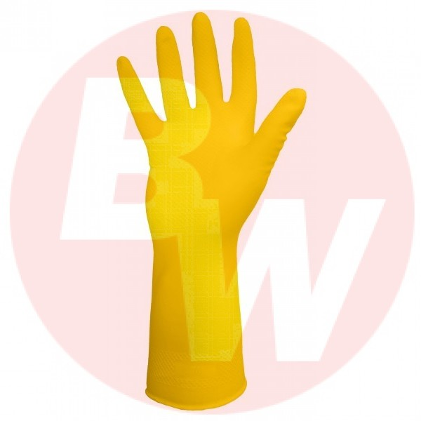 Ronco - 15-332-07 - Small Yellow Latex Long Gloves (16 Mil) **Heavy Duty** 12 PAIR/Pack