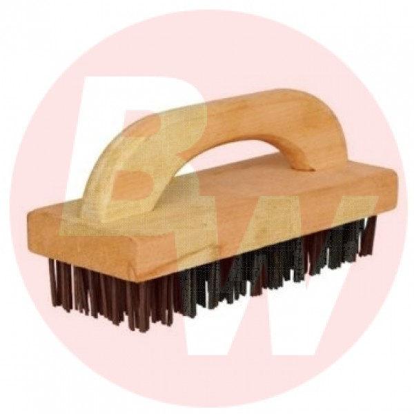 Winco - BR-9 - Butcher Block Brush With Steel Bristles 1/Each