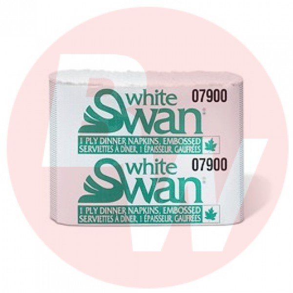White Swan - #07900 - Dinner Napkin 1 Ply - White - Premium 3000/Case