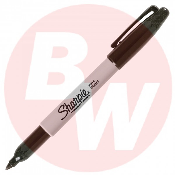 Sharpie - 30001 - Permanent Fine Marker Point Type - Black Ink - 12 / Pack