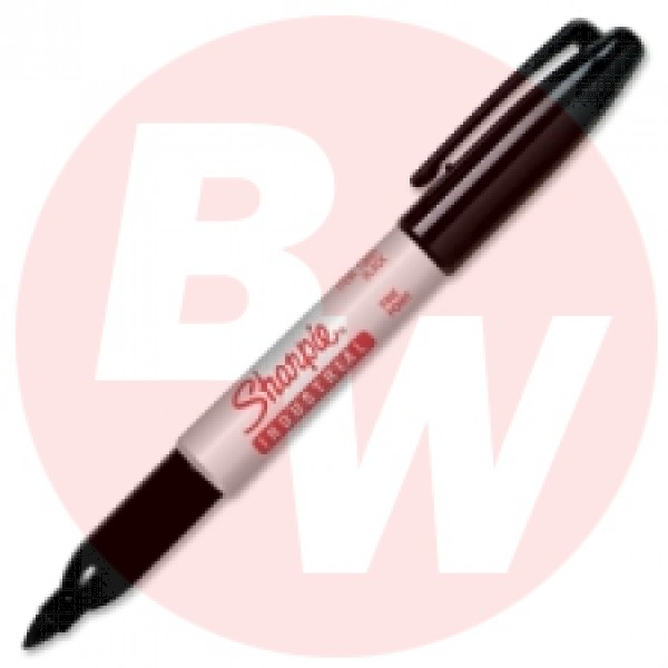 Sharpie Pro - 13601 - Black Fine Industrial Permanent Marker - High Heat Resistant Ink 500F - 12 / Pack