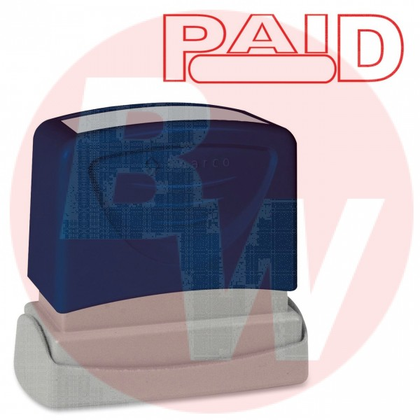 "#60022 - Printed Stamp Red Ink Title ""PAID"" - 1Each"
