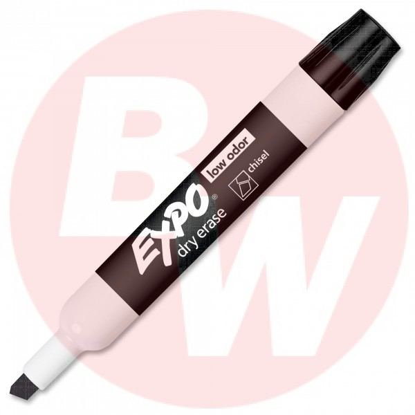 Expo - 80001 - Black Dry Erase Chisel Tip Markers - 12 / Pack