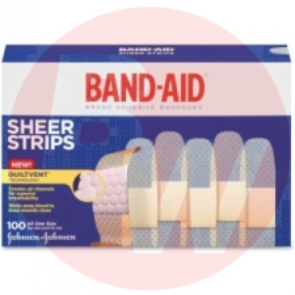 Band-Aid - 004634 - Comfort Sheer Bandaid - 100/pack - Sold 1 Pack