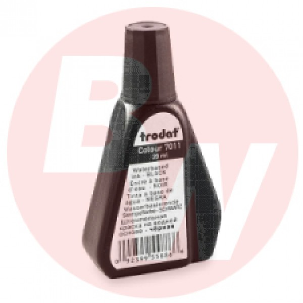Trodat - 22711 - 7011 Stamp Pad Ink, Black, 28ml, Each