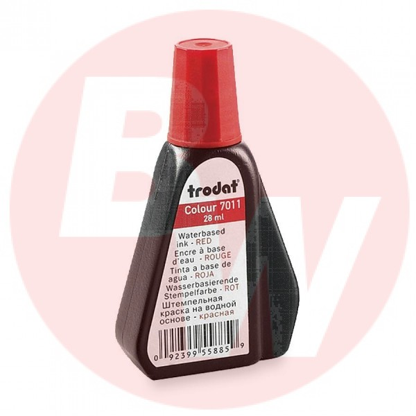 Trodat - 22713 - 7011 Stamp Pad Ink, Red, 28ml - Each