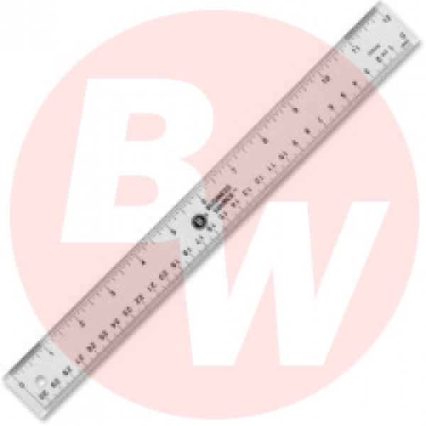 Business Source - 32359 - 12 inch Acrylic Ruler - Each