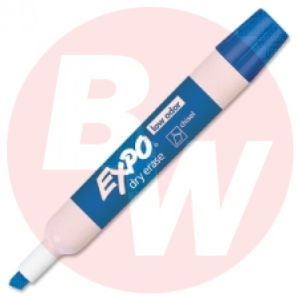 Expo - 80003 - Blue Dry Erase Chisel Tip Markers - 12 / Pack