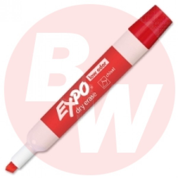 Expo - 80002 - Red Dry Erase Chisel Tip Markers - 12 / Pack