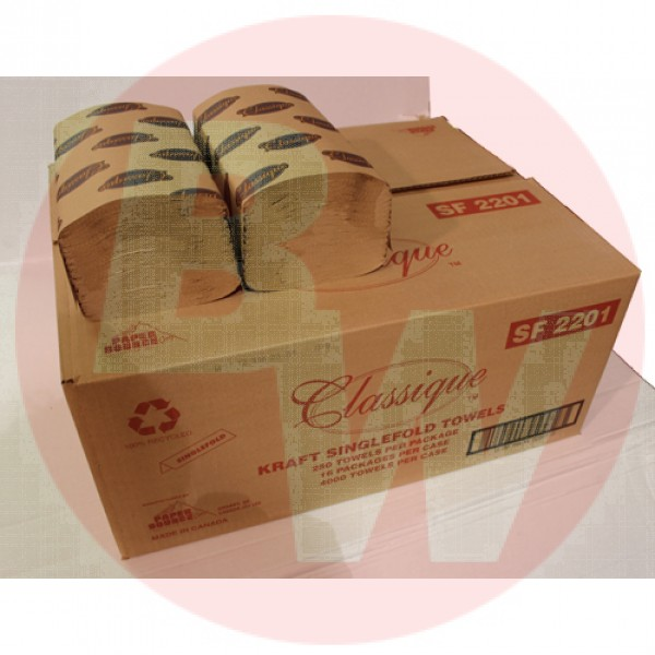 Classique - SF2201 - Single Fold Kraft Sheets 250/Pk 16/Case