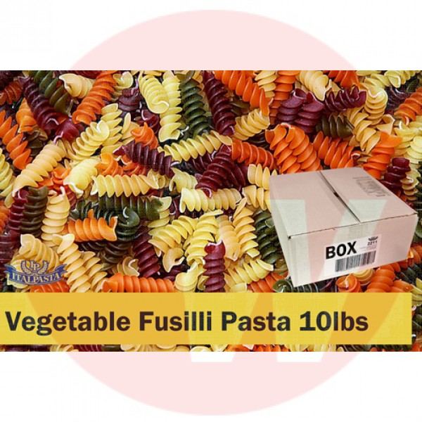 Vegetable Fusili Pasta 10lbs